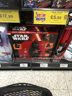 Star Wars radio controlled inflatable darth Vader - £8.99 @ Home Bargains