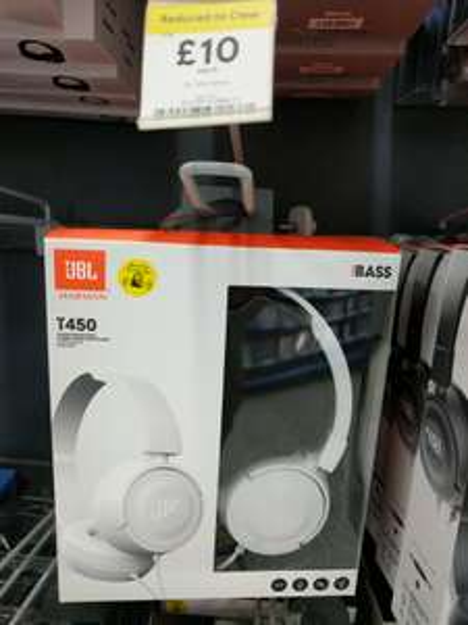 JBL T450 headphones in white £10 Tesco instore