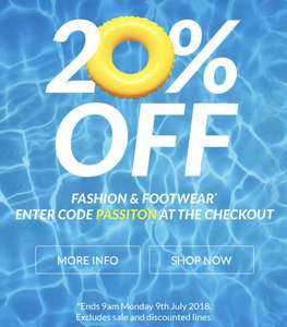 20% fashion and footwear at very.co.uk