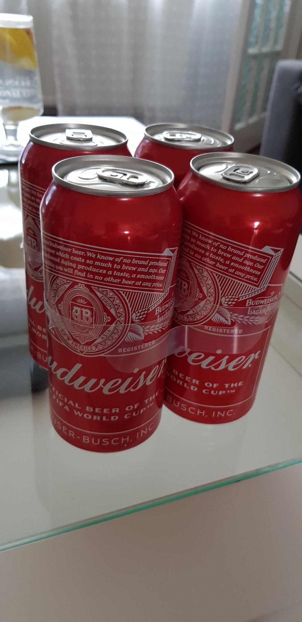 Budweiser 4x440 £3.99 at LIDL