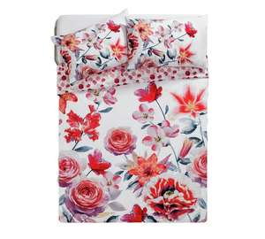 Lily Graphic Floral Bedding Set - Kingsize £9.49 @ Argos