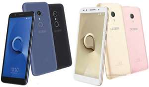Alcatel 1X with Android Go Oreo - Available in Blue, Gold or Grey/Black- 5.34in 18:9 Screen, 16 GB Storage and 8MP Interpolated to 13MP Camera - IdealWorld Pick of the Pay £89.99 till 9pm Saturday.