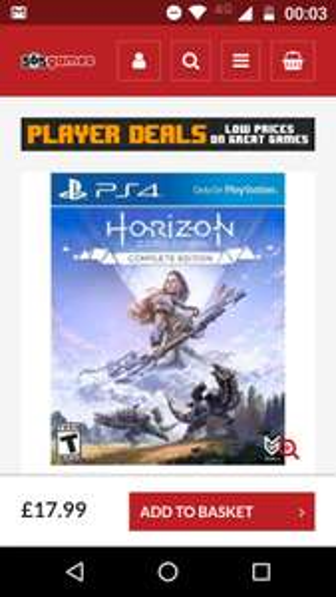 Horizon Zero Dawn Complete Edition PS4 £17.99 @ 365Games