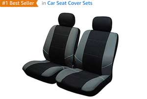 Sakura Neo Front Pair Black with grey pattern Inc Head Rest. Free delivery. Possible 3.15% cash back TCB. Good reviews at CarPartsForLess £8.21