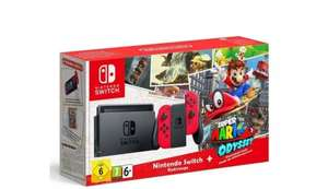 NINTENDO SWITCH CONSOLE - RED WITH SUPER MARIO ODYSSEY CODE  AND NINTENDO CLASSIC MINI £59.46 @ game collection