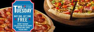 Buy One Get One Free Dominos Pizza! (Only On Tuesdays!)