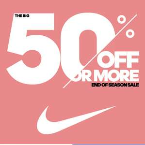 50% or more off all Nike @ InterSport