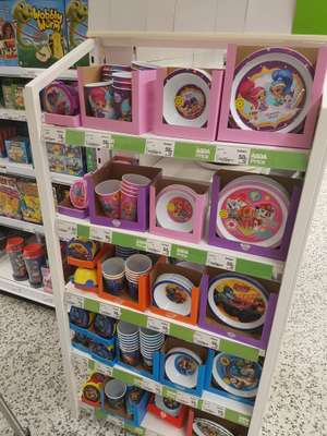 Kids character plates, beakers ect - from 50p instore @ asda