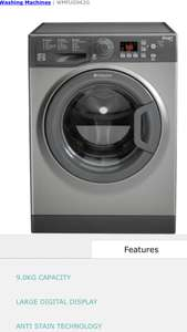 Hotpoint Washing Machine - £211.82 @ Hotpoint Clearance Store