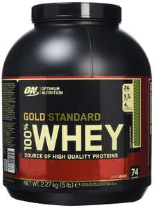 Optimum Nutrition Gold Standard Whey Protein Powder, 2.27 kg, £27.19 at Amazon/prime student, subscribe and save only