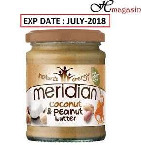 Meridian Peanut and Coconut Butter 280g  £1.49 Exp July 2018 £1.49 @  healthmagasin1 Ebay