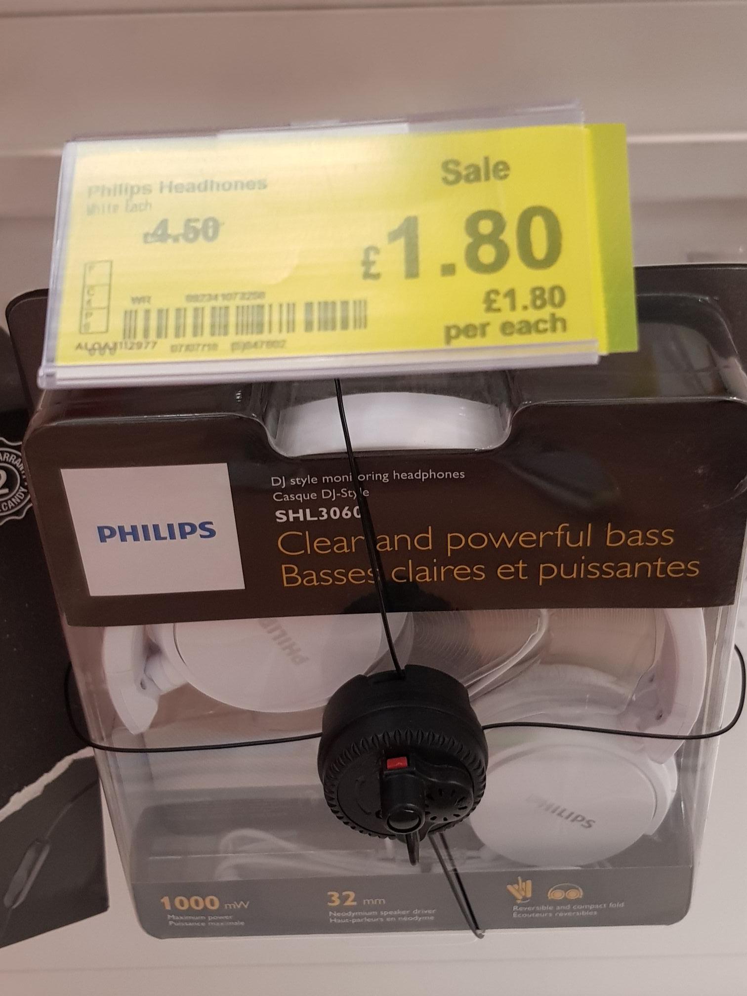 Phillips headphones £1.80 @ ASDA instore
