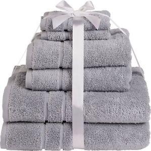 HOME 100% cotton 6 piece zero twist towel bale in grey £8.99 delivered @ eBay sold by Argos