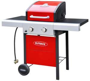 Outback 2 Burner Gas BBQ with Cover - Red £106.94 Delivered @ Argos