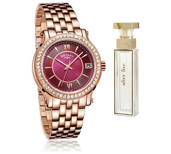 Half price - Rotary Ladies' Rose Gold Bracelet Watch and Perfume Set £64.99 @ Argos