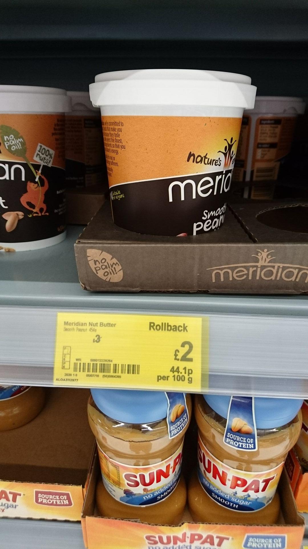 Meridian peanut butter 454g @ asda,  national