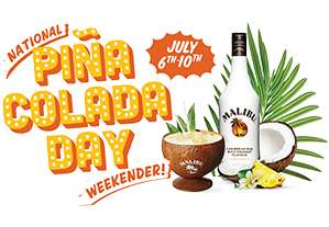 Free Malibu Piña Colada upon presentation of mobile e-voucher (at participating bars)