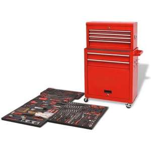 Live on 11/07 - Tool Trolley with Tools 7 Layers £174.99 @ VidaXL