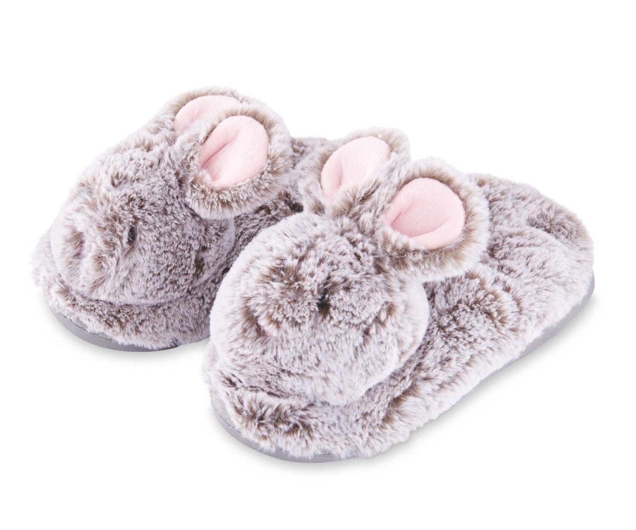 Rabbit Slippers by Lily & Dan Kids £2.49 at Aldi