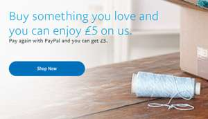Buy something you love and you can enjoy £5 on us @ Paypal