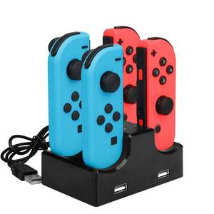IPLAY Four Charging Dock Charger Stand for Nintendo Switch Joy-Con - £5.14 delivered w/code @ Rosegal.com