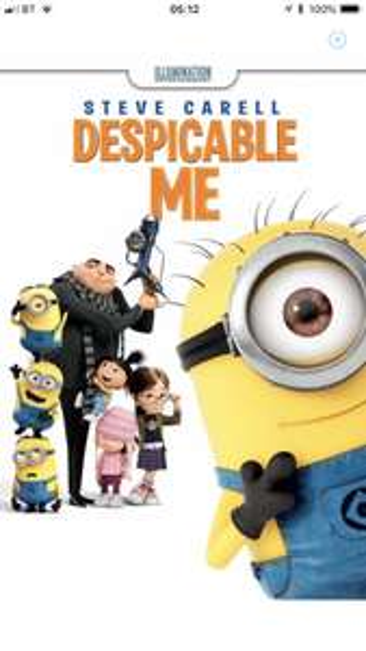 Despicable Me £3.99 @ iTunes 4K