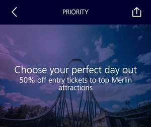 50% off Merlin Attractions - Exclusively for O2 Priority Customers