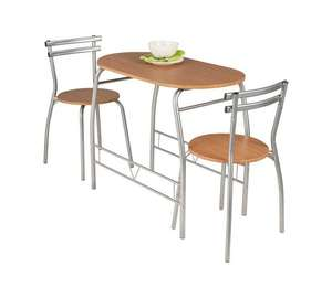 HOME Vegas Dining Table & 2 Chairs in Black Or Oak effect - now £34.99 @ Argos