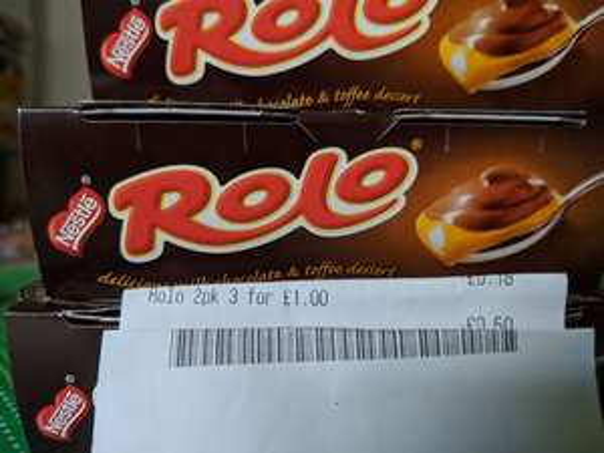 3x packs of 2 Nestle Rolo Chocolate & Toffee dessert  £1 @ Heron Frozen Foods