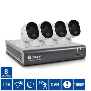Swann DVR8-4580 8 Channel 1080p Digital Video Recorder with 4 x 1080p Thermal Sensing PRO-1080MSB Bullet Cameras (Free delivery) @ Costco online