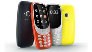 Nokia 3310 3G (2017) Model in various colour's (Warm Red, Yellow, and Charcoal) on O2 Pay as you Go (with no topup needed whatsoever - ever!), for £19 in total, at O2