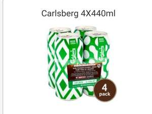 Free four pack of Carlsberg pint cans Iceland when purchasing £10 feed the squad meal deal @ Iceland