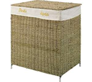 HOME 120 Litre Seagrass Laundry Basket Sorter - Natural £19.99 @ Argos