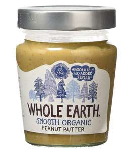 Whole Earth Peanut Butter - Organic Smooth 227g (Pack of 6) £5.31 amazon add on item and subscribe and save