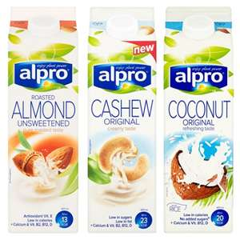 Alpro milks 2 for £2 at Co-op Inc Soya, Coconut, Almond