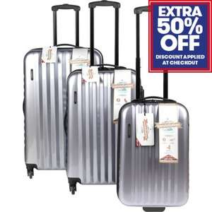 50% off various luggage at JTF e.g Constellation Athena Suitcase Silver set £22.98 del / Constellation 2 Wheel Black Suitcase 26in £15.18 & more