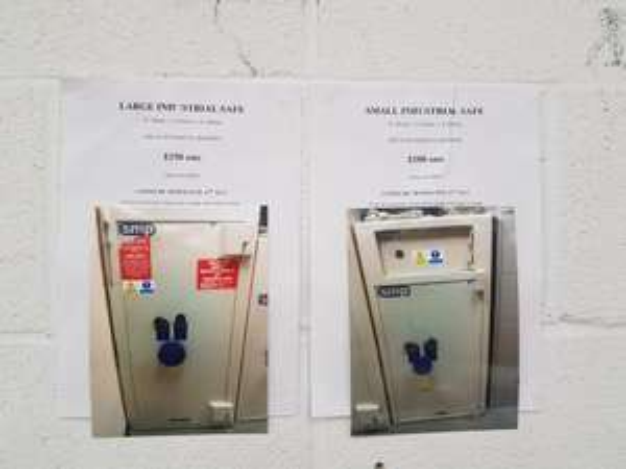 Industrial Safes (pre-owned)  - Homebase Instore (Spalding) - £100-150