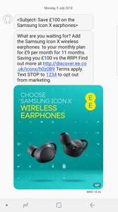 Samsung Gear Icon X Wireless Earphones (EE Pay Monthly Customers Only?) £99