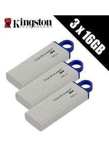 3 x Kingston Technology 16GB DataTraveler DTIG4 USB 3.0 Drives £11.99 Base.com
