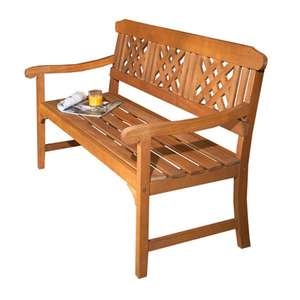 3 Seater Wooden Garden Bench £99.99 + free delivery @ Robert dyas