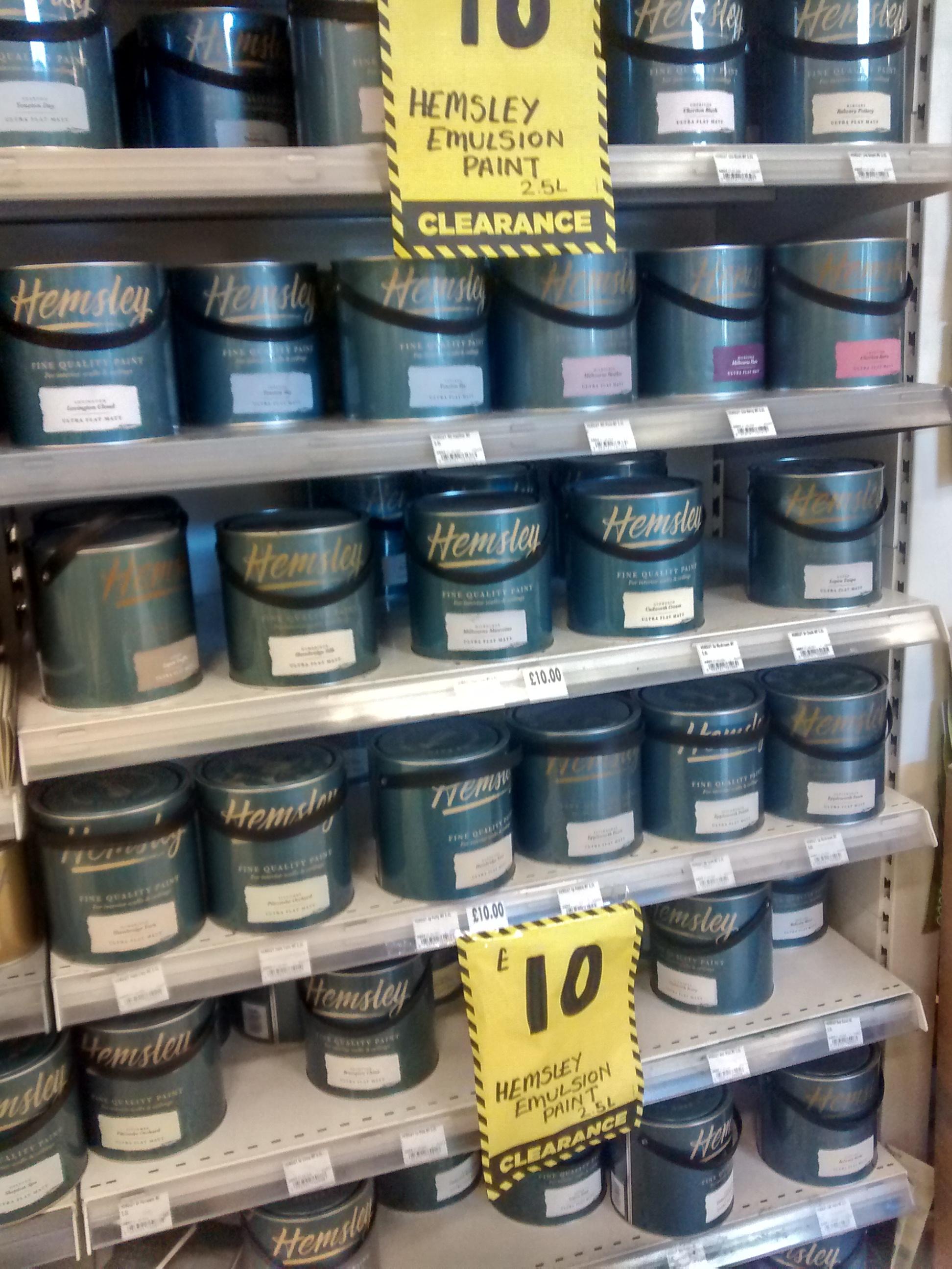 Hemsley Paint Homebase Half Price - £10 2.5L - Good quality Farrow and Ball alternative
