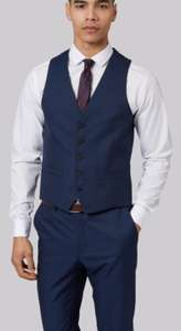 Come on England !!! Moss London Skinny Fit Navy Jacquard Waistcoats from £10 - Free c&c