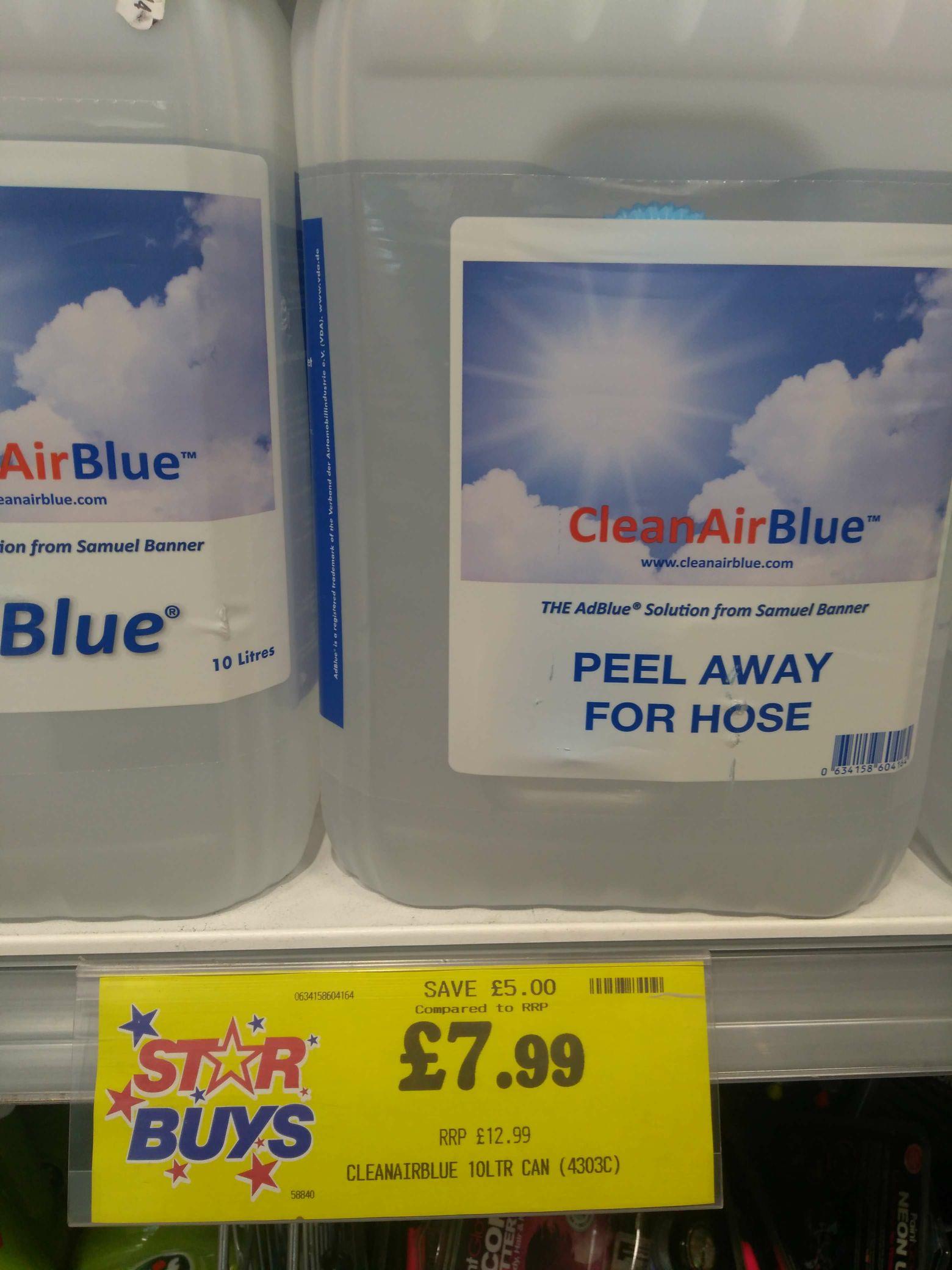 AdBlue 10 litre £7.99 instore @ home bargains