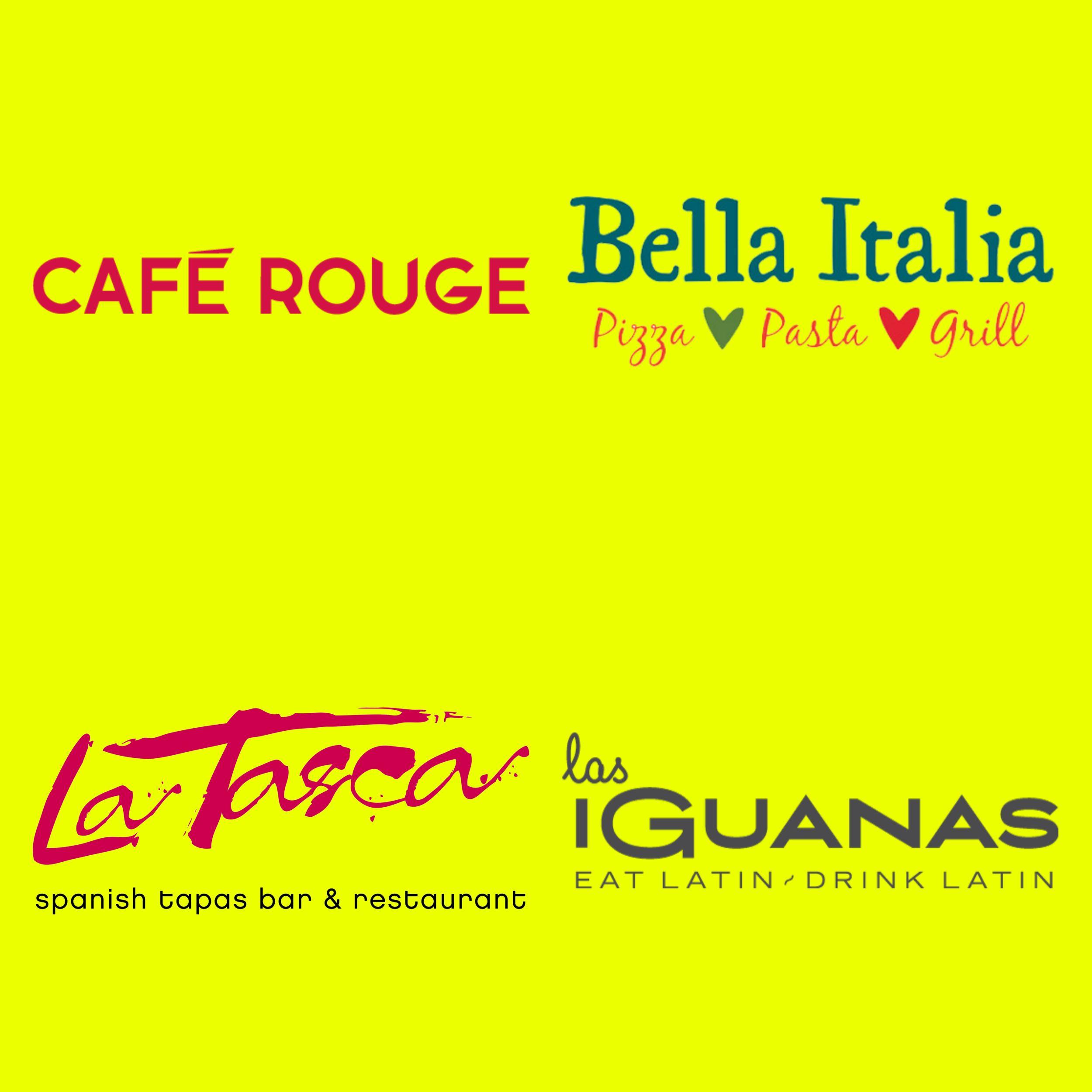 £3 Food at Bella Italia, Café Rouge, La Tasca, and Las Iguanas + Potential Handy Candy @ Wuntu (For Three Customers)