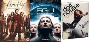 Various sci-fi TV series DVDs (and some Blu-ray) on sale on eBay - including Stargate Universe, Firefly & Dollhouse (Joss Wheldon), Roswell @ The Entertainment Store
