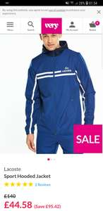 Lacoste tracksuit jacket £44.58 @ Very