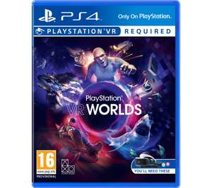 PS4 (PSVR) VR Worlds / Farpoint £4.97 each @ Currys