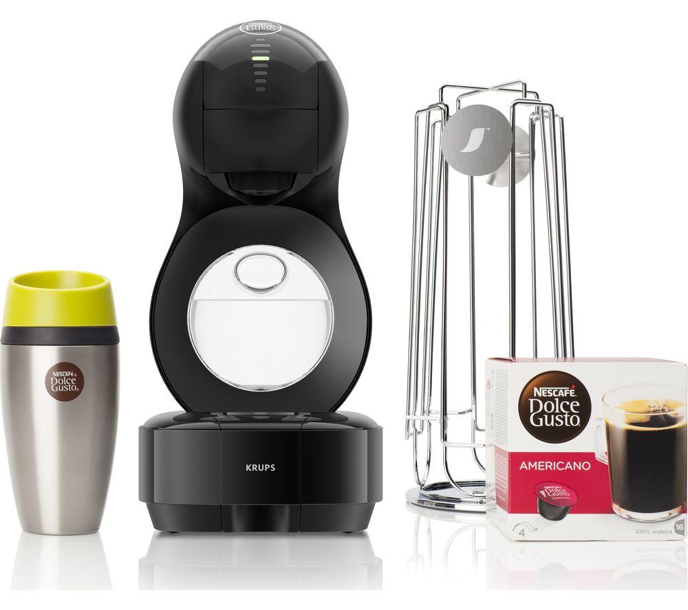 DOLCE GUSTO by Krups Lumio KP138BUN Coffee Machine Bundle now £59.99 - Machine + Travel mug + Pod Holder + Pods @ Currys