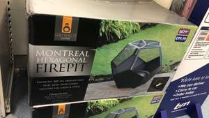 Montreal hexagonal Fire pit £40 in B&M
