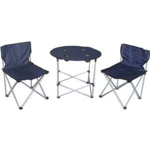 Folding Camping Table & 2 Chairs £14.99 / Folding Standing Cooler Bag - 24L £9.99 / Trespass 2 Person Festival Bundle £29.99 @ Argos
